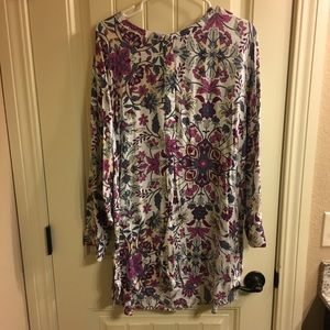 Purple floral tunic